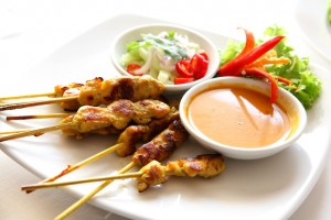 Chicken Satay from Blue Basil NJ catering