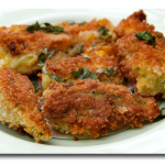 Fried Zucchini Blossoms from Blue Basil Cafe and Catering